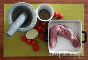 polędwiczki wieprzowe w ziołach składniki