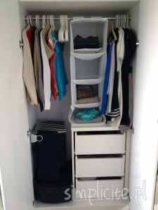porządki szafa garderoba simplici