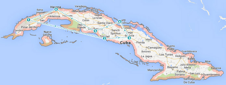 kuba mapa przewodnik simplicite