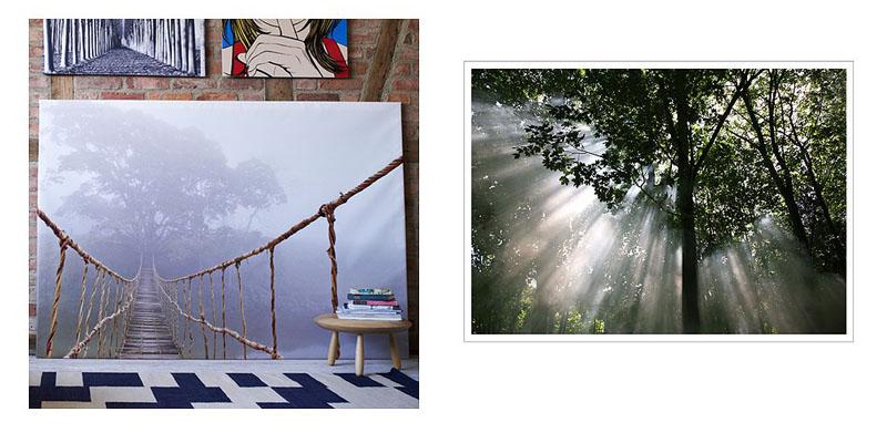 DIY wielkoformatowy obraz na ścianę  Simplicite -> Obrazy Kuchni Ikea