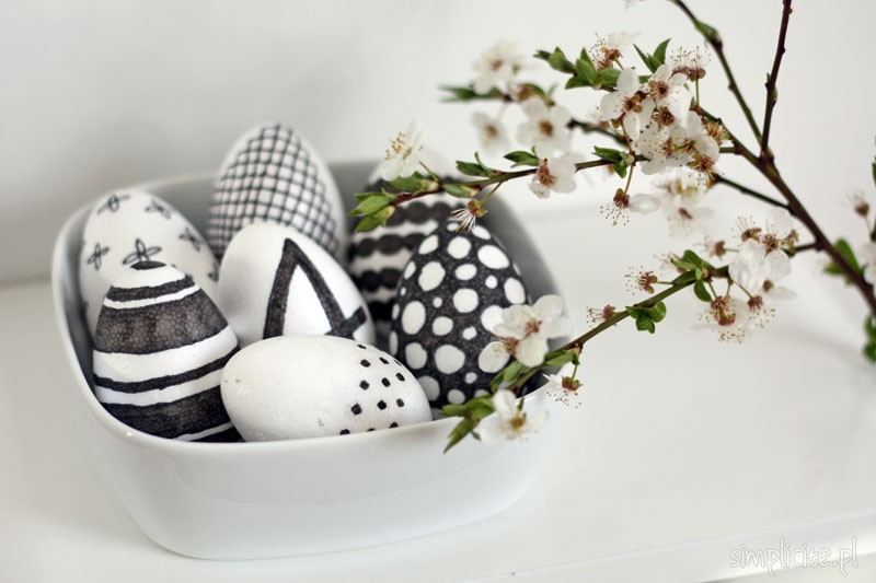 DIY: biało-czarne pisanki