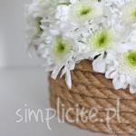 DIY: wazon z użyciem sznurka jutowego