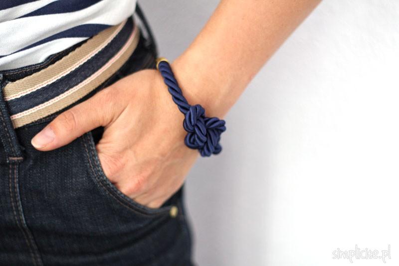 Wakacyjne DIY: marynarska bransoletka z węzłem