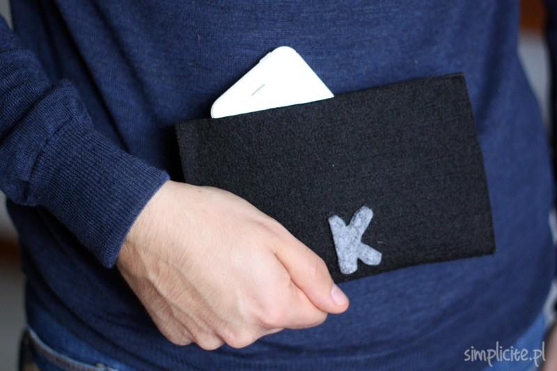 DIY: filcowy pokrowiec na telefon lub tablet