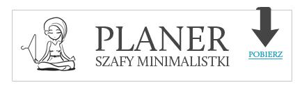 planer szafy minimalistki