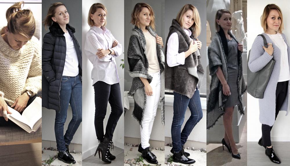 Szafa Minimalistki (capsule wardrobe). Listopad 2015. Tydzień 2