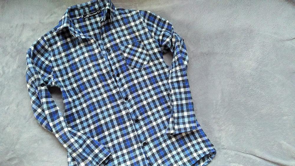 f6ed35f572 Koszula niebieska w kratkę – mój drugi faworyt ubraniowy kupiony z drugiej  ręki na portalu vinted