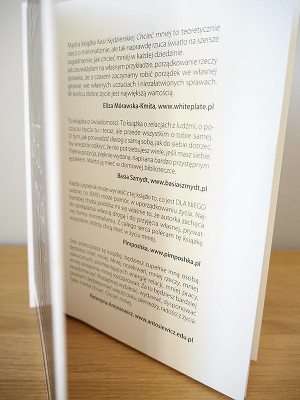 książka o minimalizmie