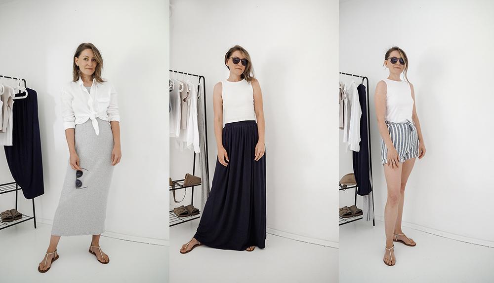 Jak się ubierać w upały czyli Szafa Minimalistki na lato